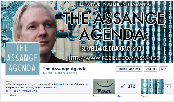 Like The Assange Agenda Facebook Page